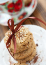 Shortbread cookies with sesame seeds Royalty Free Stock Photo