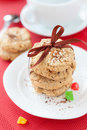Shortbread cookies with sesame seeds Stock Photography