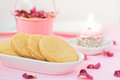 Shortbread cookies stack of cookies valentine s day Stock Image