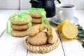 Shortbread lemon flavored cookies Royalty Free Stock Photo