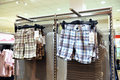 Shorts hanging in a store Royalty Free Stock Image