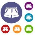 Shorts icons set