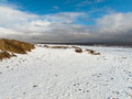 Shot beach anderby creek east coast england march coldest i have ever been beach Stock Photo