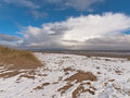Shot beach anderby creek east coast england march coldest i have ever been beach Stock Images