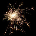 Shot of a burning sparkler at night Royalty Free Stock Photo