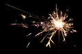 Shot of a burning sparkler at night Royalty Free Stock Image