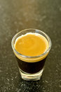 A shot of espresso Royalty Free Stock Photos