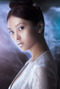 Shot of a futuristic young asian woman.