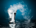 Shot glass of vodka with ice vapor Royalty Free Stock Photo