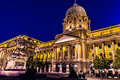 Shot of night buda castle in budapest hungary royal palace at Royalty Free Stock Images