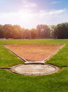 Shot Put field Royalty Free Stock Image