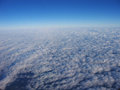 Shot taken high above clouds beautiful sunny day Royalty Free Stock Photos