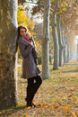 Shot of young woman in the park Royalty Free Stock Photos