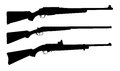 Shotguns vector illustration of silhouettes Royalty Free Stock Images