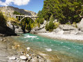 Shotover Canyon, Queenstown, New Zealand Royalty Free Stock Photo