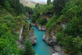 Shotover river blue stream the is located in the otago region of the south island of new zealand the name correctly suggests that Stock Photos