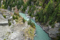 The shotover river cutting through a rocky gorge in south island of new zealand Royalty Free Stock Image
