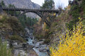 Shotover river and edith cavill bridge queenstown new zealand Royalty Free Stock Photography