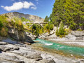 Shotover River, Queenstown, New Zealand Royalty Free Stock Photo