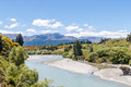 Shotover river queenstown new zealand s in early spring Stock Photo