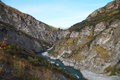 Shotover River at Skippers Canyon Road , Queenstown, New Zealand Royalty Free Stock Photo