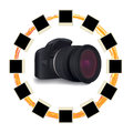 Shots around digital camera Royalty Free Stock Image