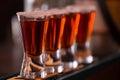 Shots in nightclub barman make alcoholic Stock Photo