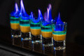 Shots in nightclub Royalty Free Stock Photo