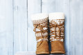 Shoues retro photo of winter shoes Royalty Free Stock Photos