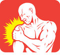 Shoulder pain icon of a injury Stock Images