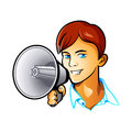 Shout out boy handsome guy something big Royalty Free Stock Photography