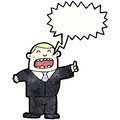 Shouting boss cartoon Royalty Free Stock Image