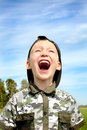 The shouting child Royalty Free Stock Photos