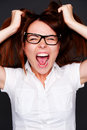 Shouting girl Stock Image