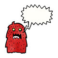 Shouting monster cartoon Stock Photo