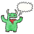 Shouting monster cartoon Royalty Free Stock Image