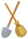 Shovel and broom