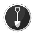 Shovel construction isolated icon
