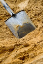Shovel with sand Royalty Free Stock Images