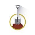 Shovel tool isolated icon