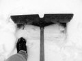 Shoveling snow after a heavy snowfall Royalty Free Stock Photos