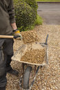 Shovelling Gravel Royalty Free Stock Photo