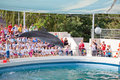 Show at the dolphinarium Stock Photos