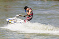 Show Freestyle the Jet Ski stunt action Stock Images
