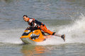 Show Freestyle the Jet Ski stunt action Stock Image