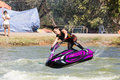 Show Freestyle the Jet Ski stunt action Royalty Free Stock Image