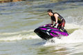 Show Freestyle the Jet Ski stunt action Royalty Free Stock Photo