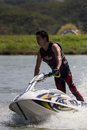 Show Freestyle the Jet Ski stunt action Stock Photos