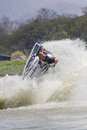 Show Freestyle the Jet Ski stunt action Royalty Free Stock Images