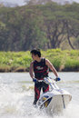 Show Freestyle the Jet Ski stunt action Royalty Free Stock Photos